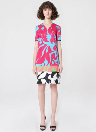 Printed jacquard T-shirt dress - ESCADA