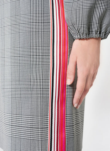 Viscose Stretch Check Design Dress - ESCADA