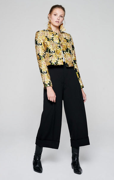 ESCADA Wool Stretch Culotte Pants