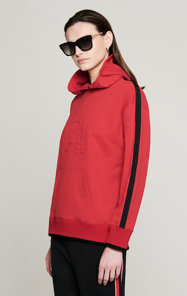 Embossed Hooded Sweatshirt - ESCADA