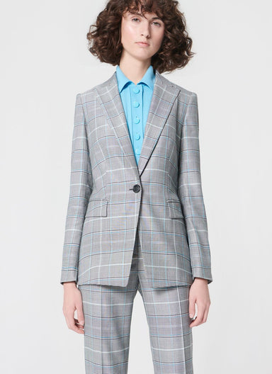 Jacket in classic check design - ESCADA