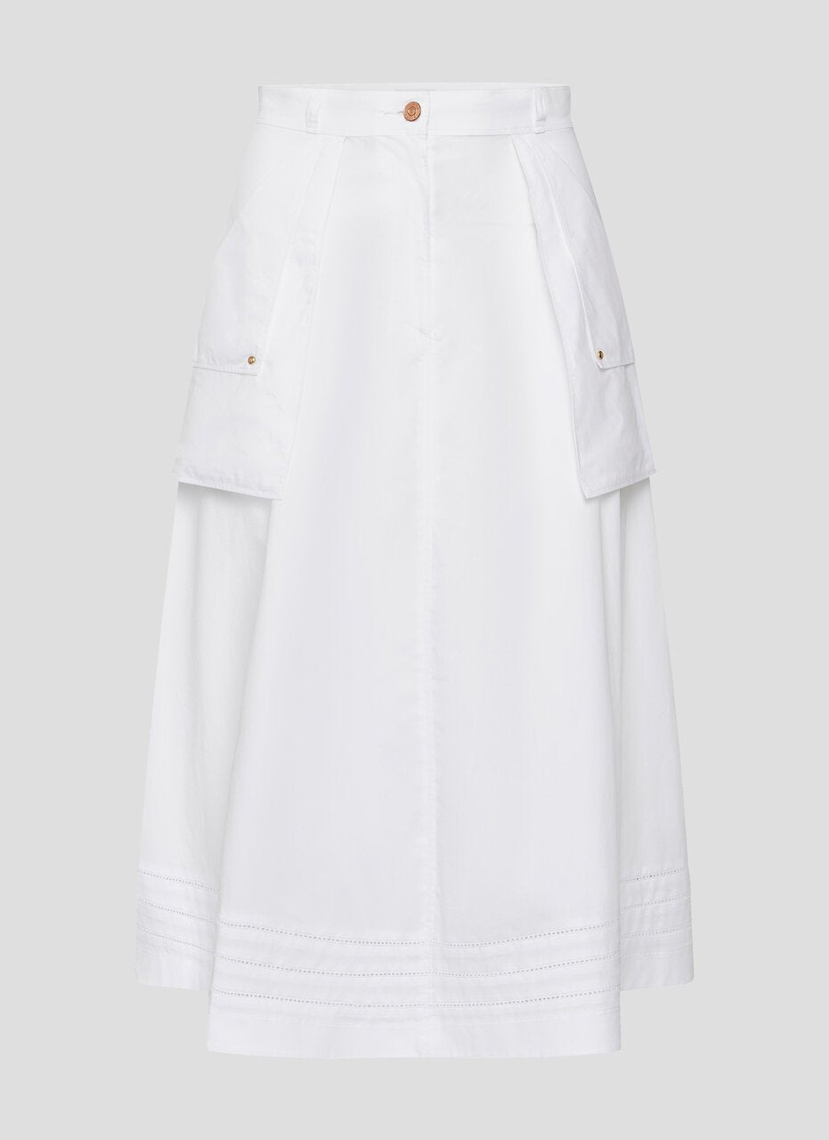 Cotton Poplin A-Line Skirt - ESCADA