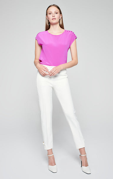Slim Buckle Detail Pants - ESCADA
