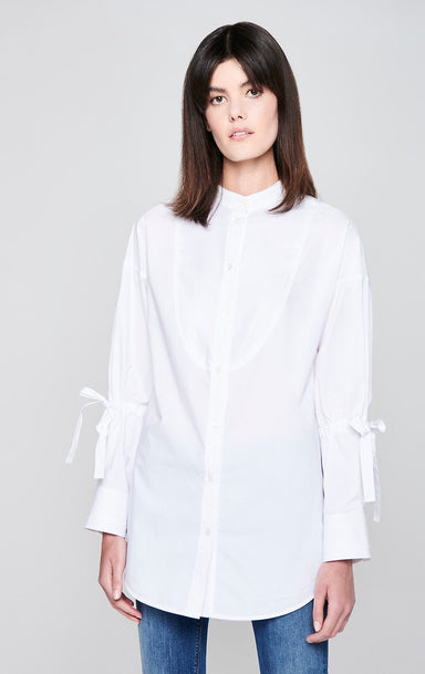 Cotton Poplin Tie-Sleeve Shirt - ESCADA