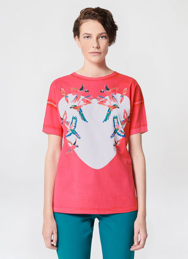 ESCADA Garment Dyed Printed T-Shirt