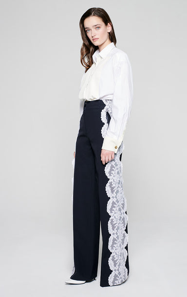 Residency Collection - Wool and Lace Pants - ESCADA