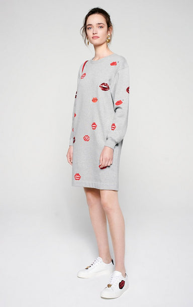 ESCADA Embroidered Sweatshirt Dress