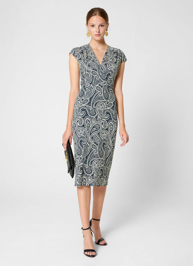 ESCADA Paisley Print Jersey Dress