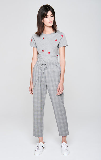 ESCADA Wool Check Drawstring Pants
