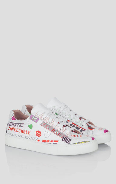 Printed Leather Sneakers - ESCADA