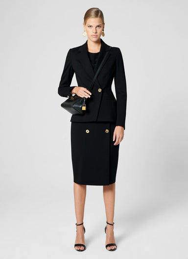 ESCADA Jersey Button-Detail Pencil Skirt