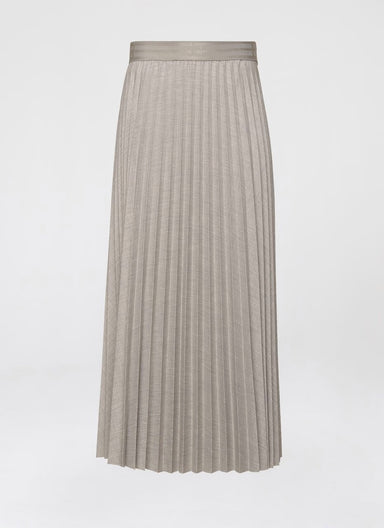 Plissé Viscose Stretch Midi Skirt - ESCADA