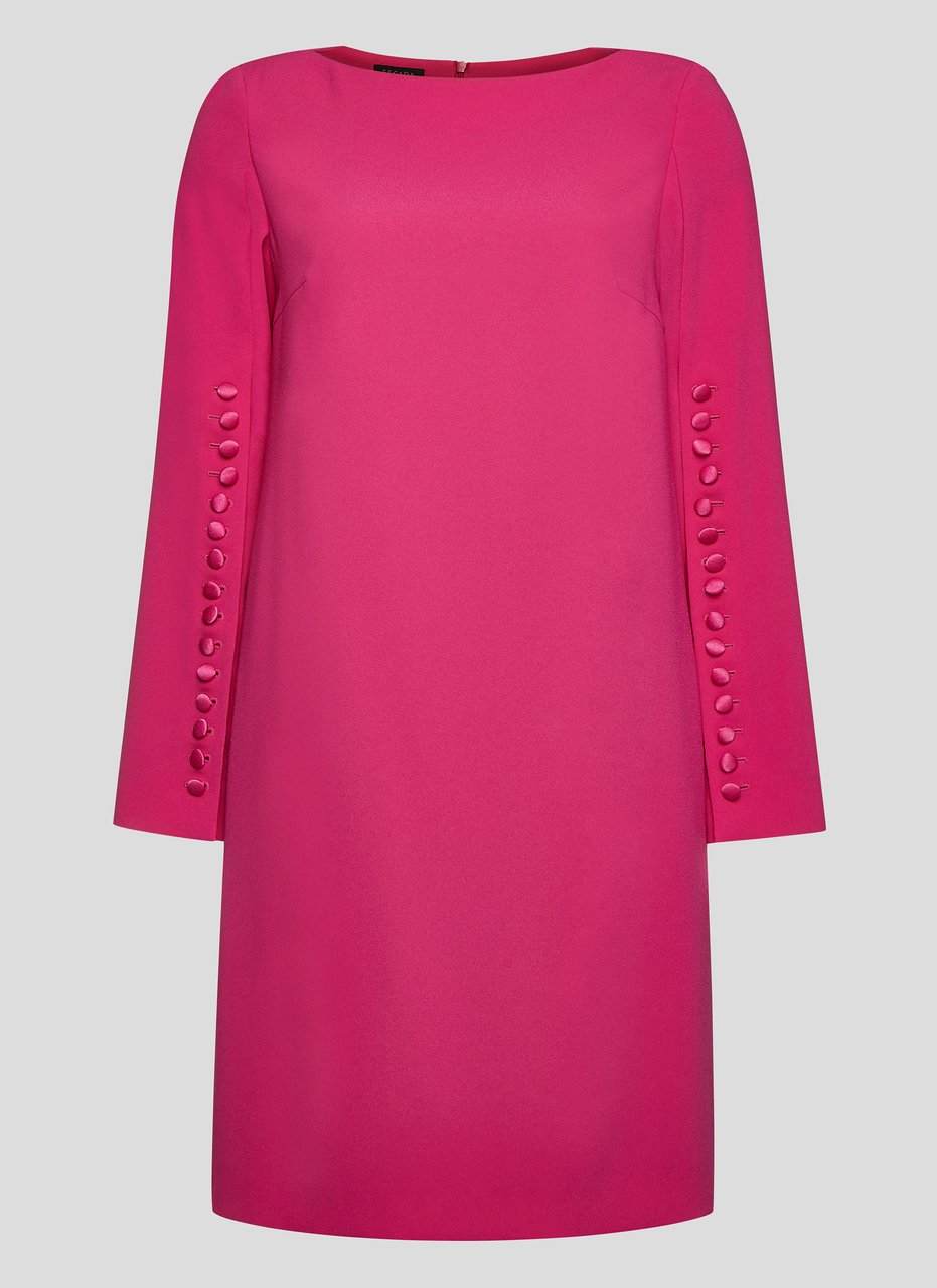 Crepe Button-Detail Dress - ESCADA