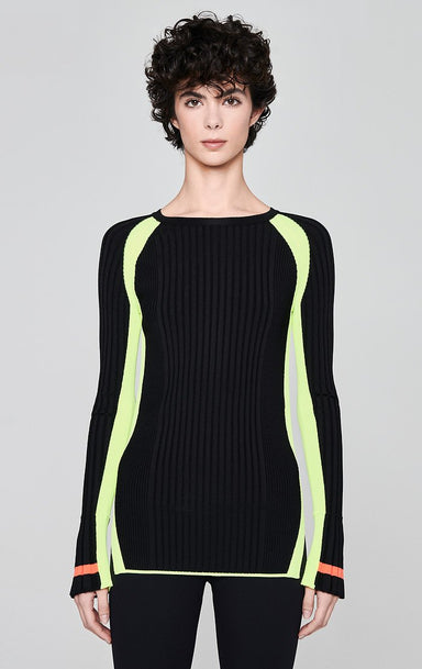 ESCADA Contrast Stripe Rib-Knit Sweater