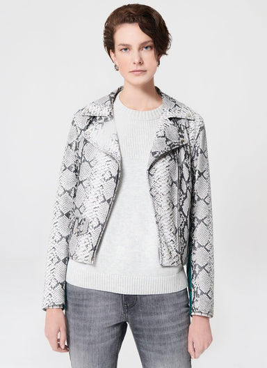 ESCADA Signature Leather Biker Jacket