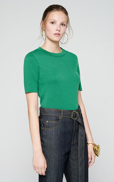 Wool Short-Sleeve Sweater - ESCADA