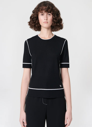 ESCADA Wool pullover with contrast pipings