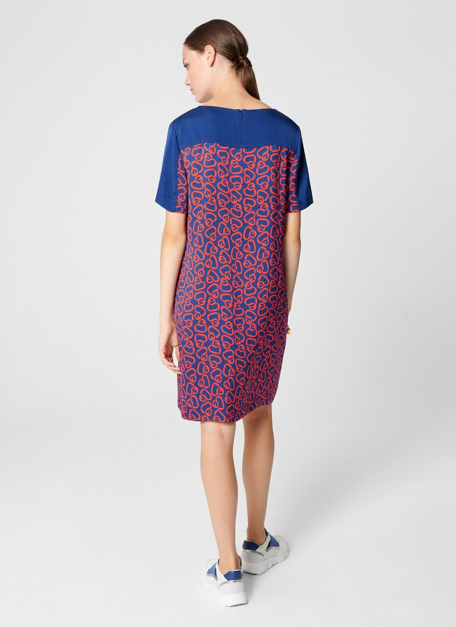 Crepe Printed T-shirt Dress - ESCADA