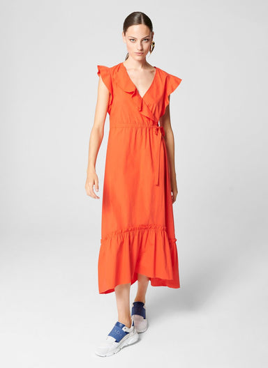 Cotton Poplin Wrap Dress - ESCADA
