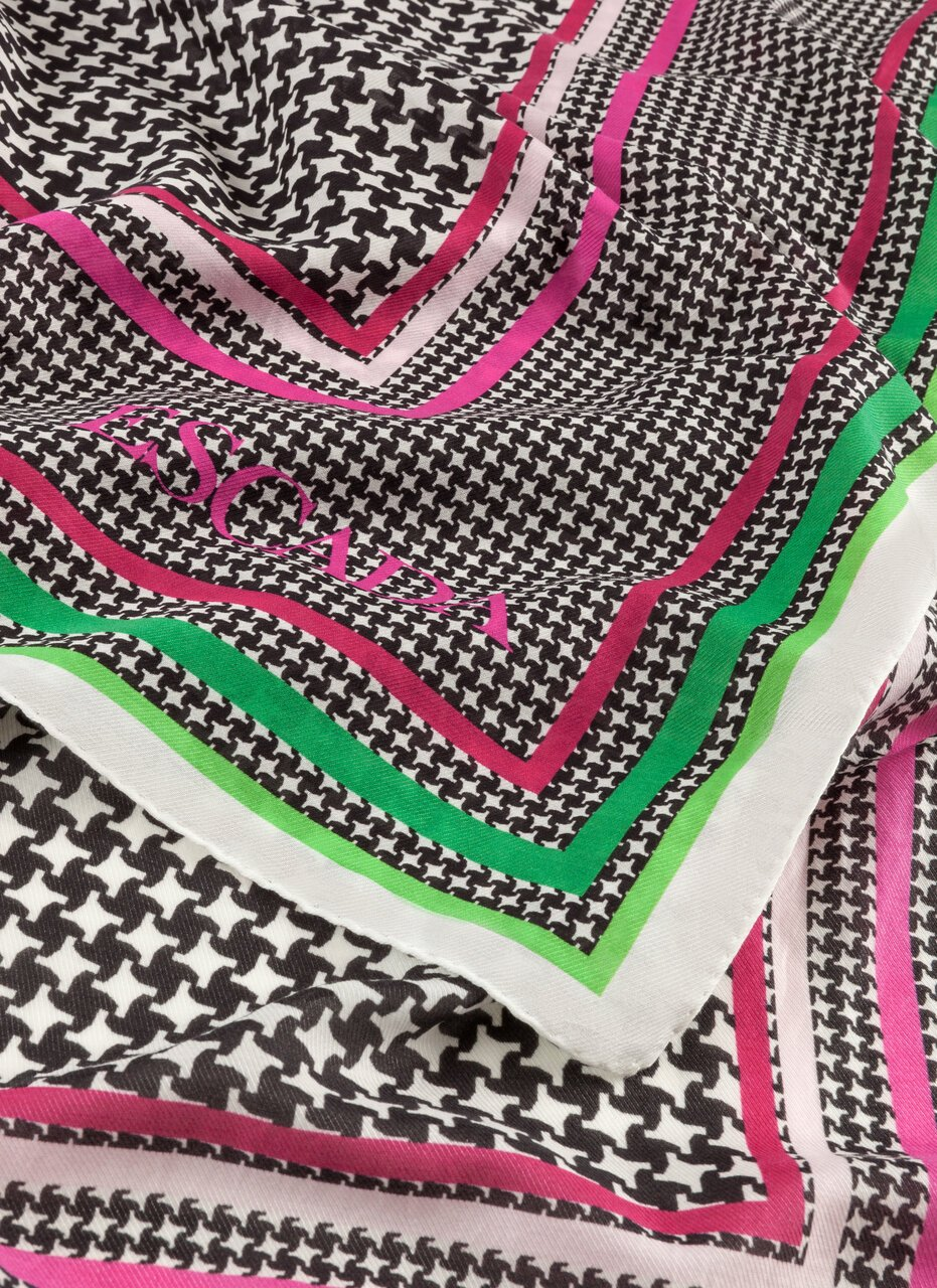 Printed Cotton Silk scarf - ESCADA