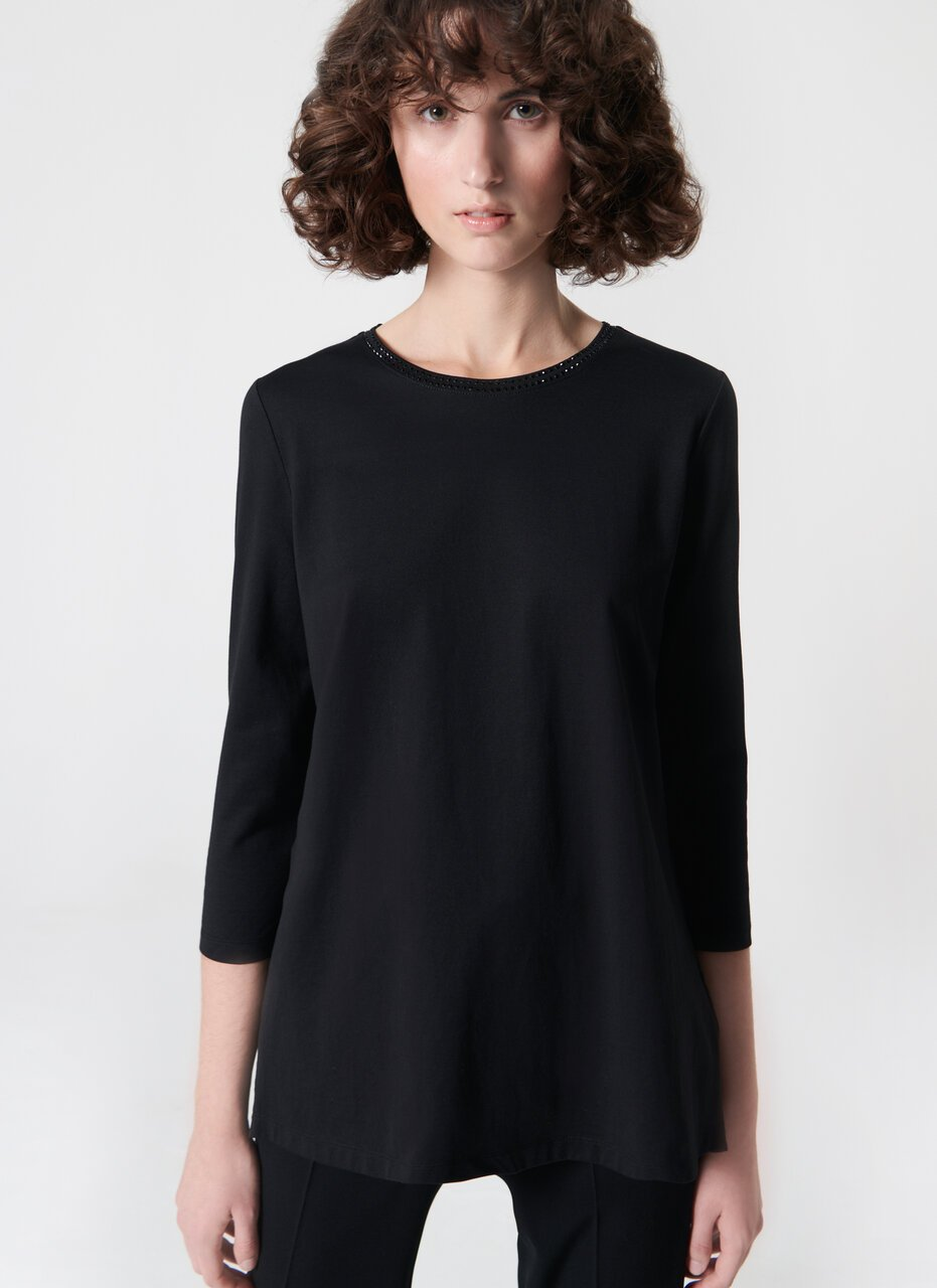 ESCADA Jersey tunic with feminine pleating in the back