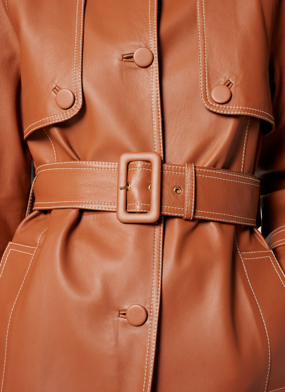 Leather Trench Jacket - ESCADA