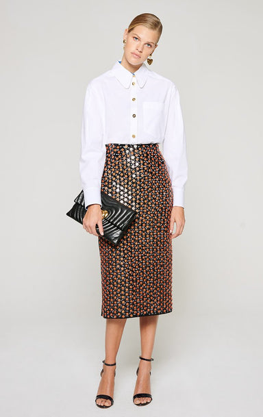 Embroidered Pencil Skirt - ESCADA