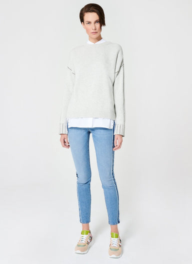 ESCADA Blue Jegging Stripe Patch