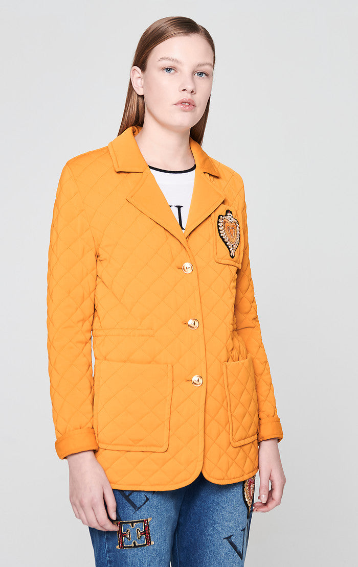 ESCADA Quilted Badge Blazer