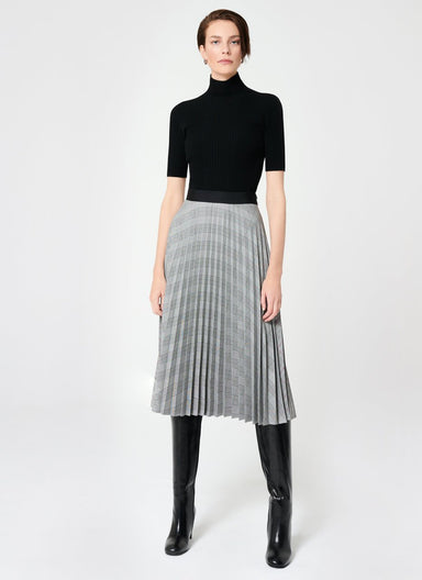 ESCADA Plissee Viscose Stretch Midi Skirt