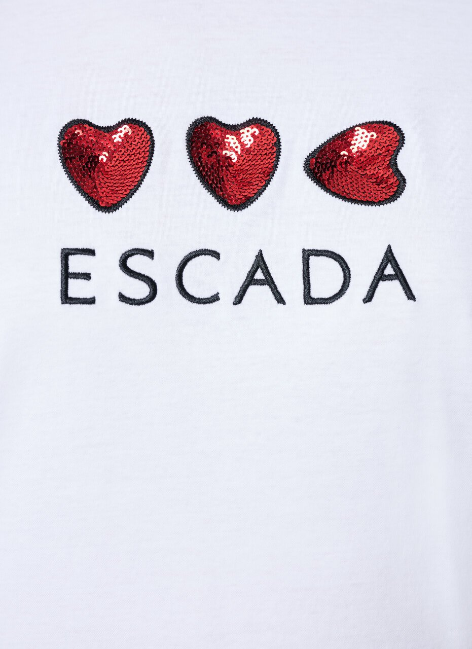 ESCADA Heart Embroidered T-Shirt