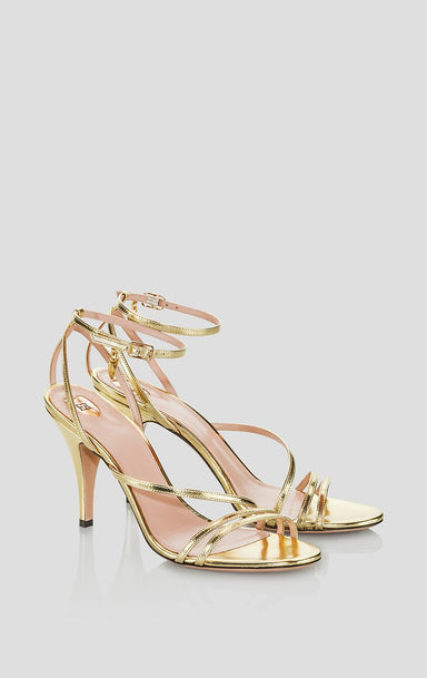 Gold Leather Sandals - ESCADA