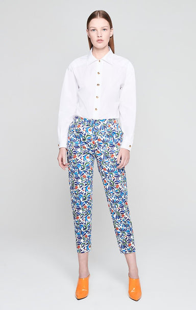 Cotton Stretch Printed Pants - ESCADA