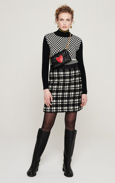 ESCADA Wool Check Tweed Skirt