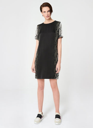 ESCADA Viscose Crêpe Python Print Dress