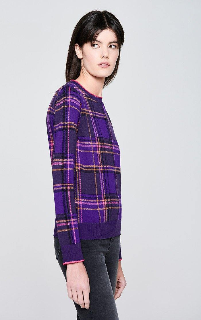 Virgin Wool Check Sweater - ESCADA