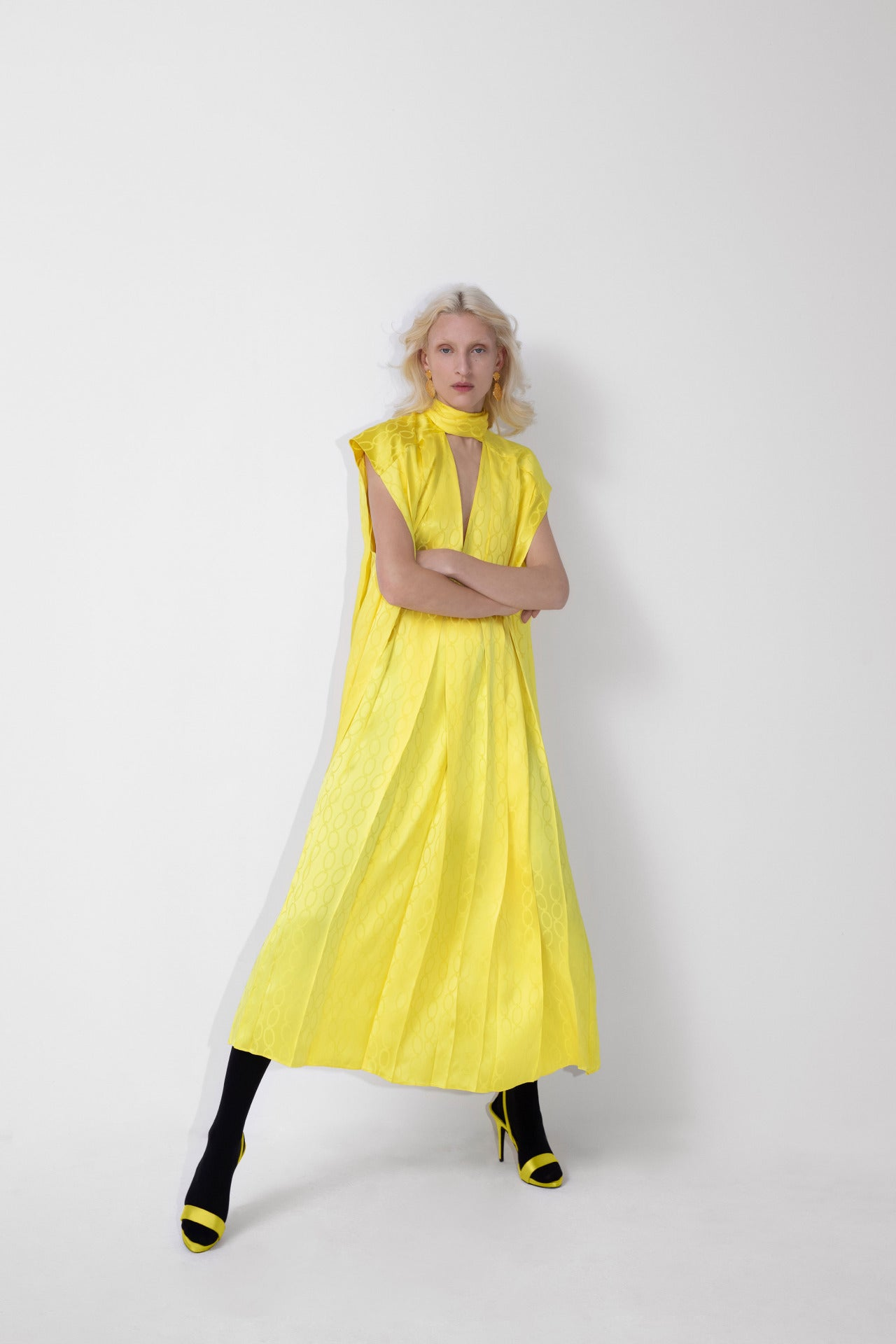 ESCADA Fall/Winter 2020 Yellow dress