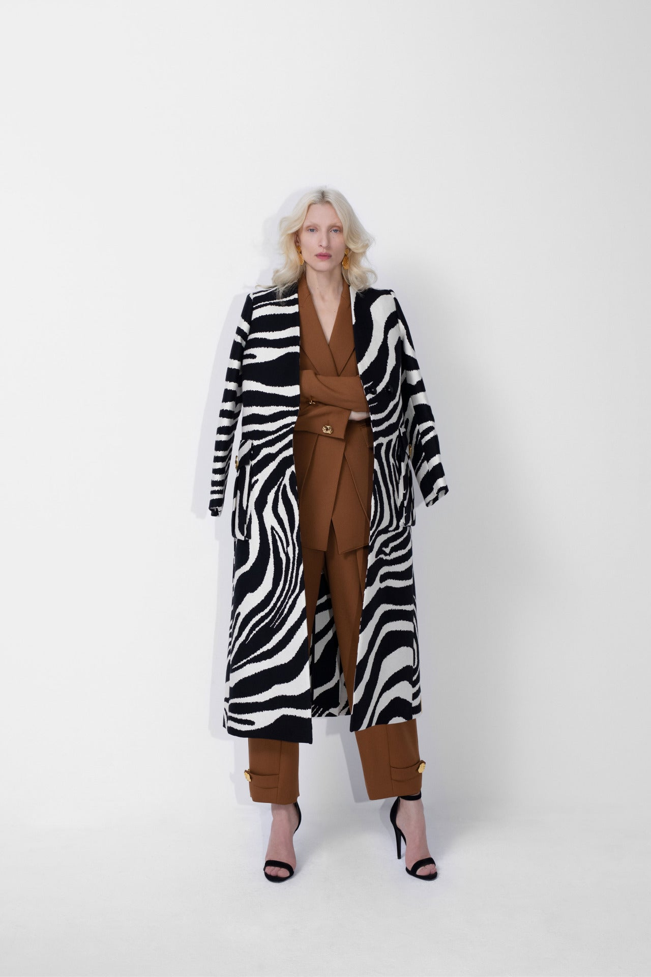 ESCADA Fall/Winter 2020 Heavy zebra coat and power suit