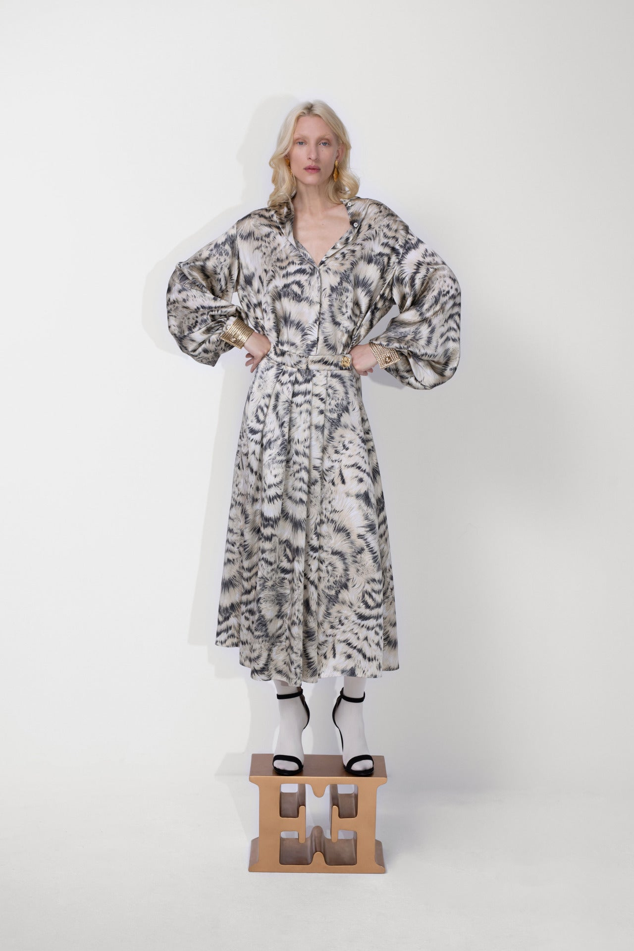 ESCADA Fall/Winter 2020 Fur print dress