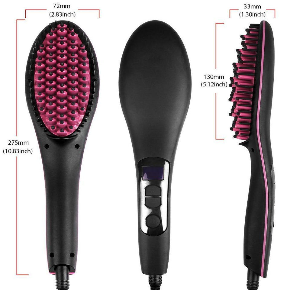 2 in 1 Electric Hair Straightening Brush