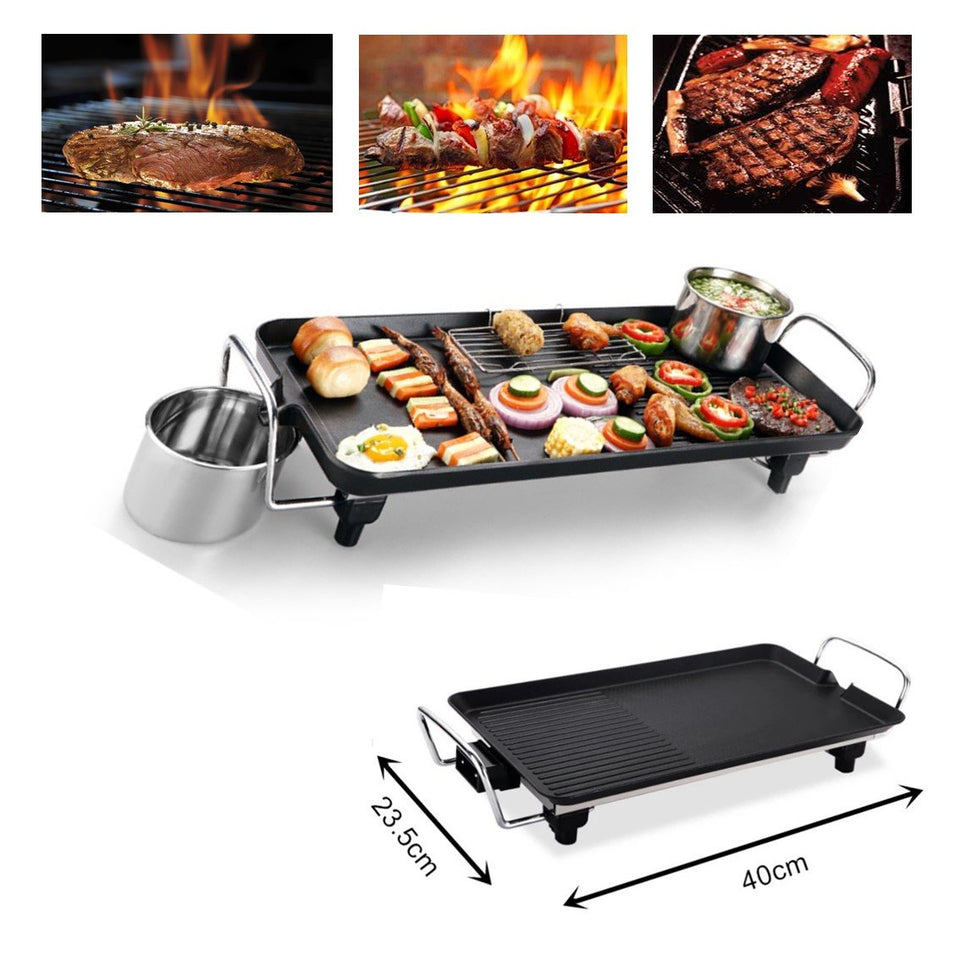 Electric BBQ Grill (NON-STICK SMOKELESS)