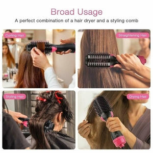 3 in 1 Hair Dryer, Curlerv Volumizer & Hair Straightener Air Brush