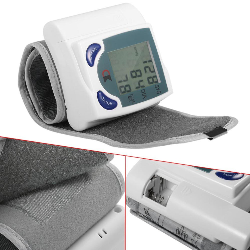Blood Pressure And Heart Rate Wrist Monitor