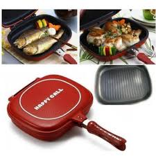HAPPYCALL DOUBLE SIDED PAN + (Free Clever Cutter) 🎁