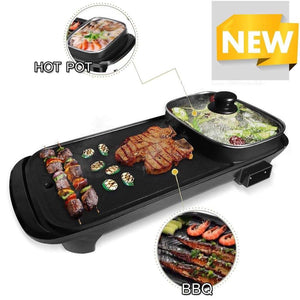 2-in-1 Korean Hotpot and Barbecue Grill