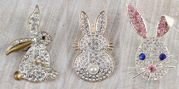 Rabbit Pins by Seasons Jewelry