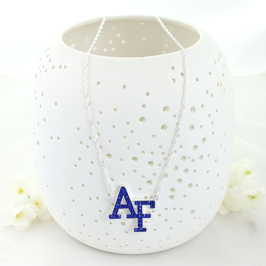 Air Force Crystal Logo Necklace