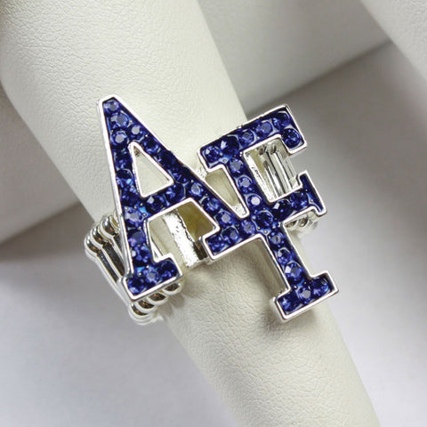 Seasons Jewelry Air Force Crystal Logo Stretch Ring