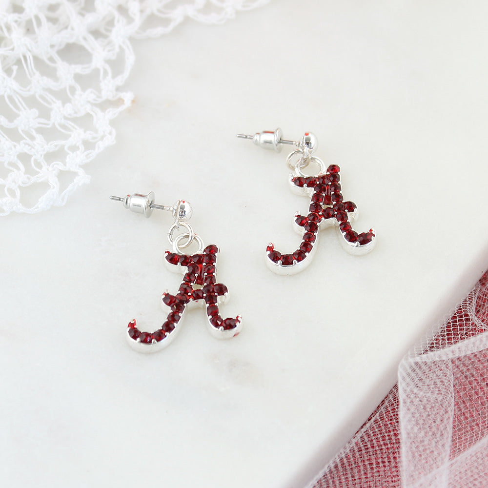 Alabama Crystal Logo Earrings