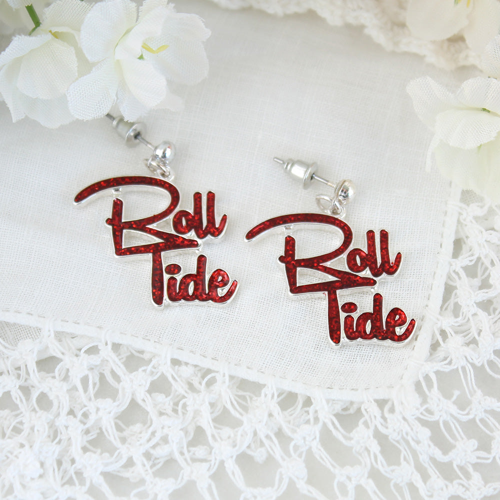 Alabama Slogan Earrings